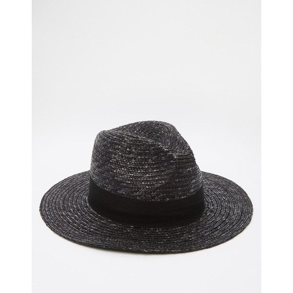 ASOS Straw Fedora Hat In Black ($9.87) ❤ liked on Polyvore featuring men's fashion, men's accessories, men's hats, black, mens straw fedora hats, mens wide brim hats, mens wide brim straw hat, mens wide brim fedora hats and men's brimmed hats