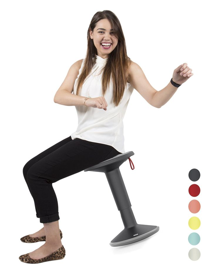 Stand Steady Active Motion Stool for Seating Performance with Active Sitting - Premium Ergonomic Stool / Ergonomic Office Chair for Comfort & Back Pain Relief - Made in Germany (Black/Gray) #ergonomicofficechairbackpain