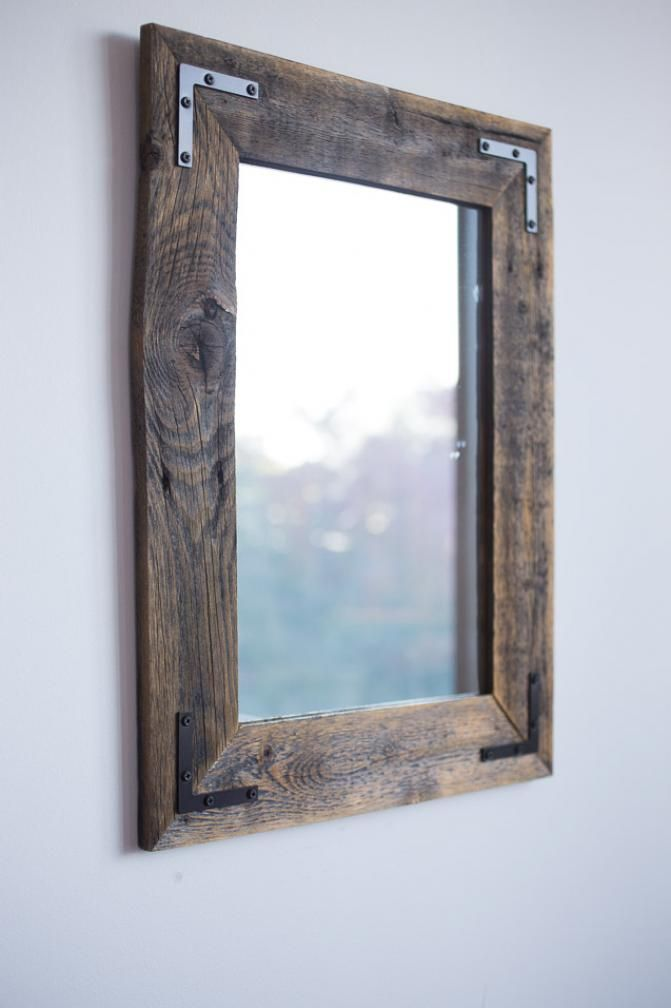 Reclaimed Wood Farmhouse Mirror handcrafted in Plano, #Texas BourbonandBoots.com