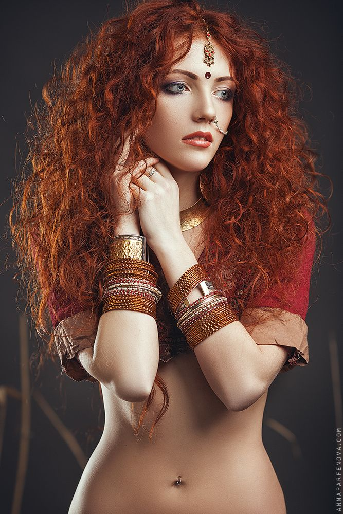 Marina art girl redhead will
