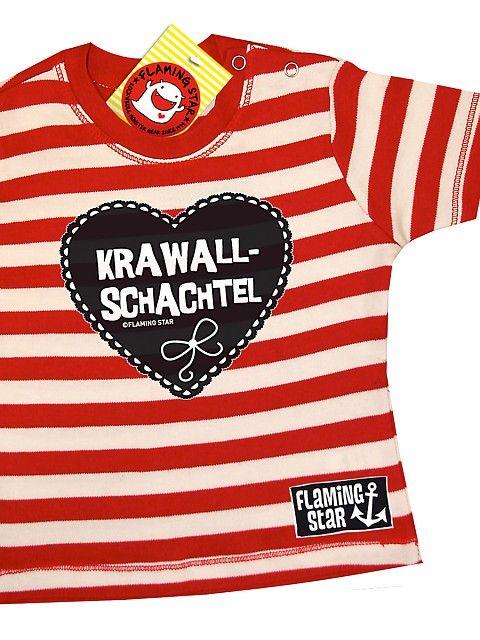 FLAMING STAR Krawallschachtel Baby Shirt, rot/weiss ...