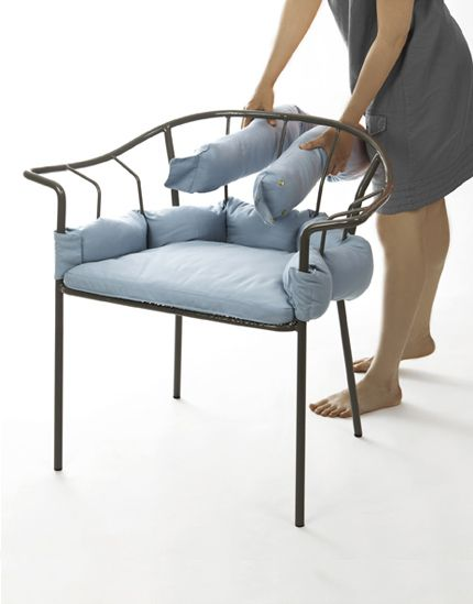 By Eléonore Nalet And Distributed By Ligne Roset. A Delicate Metallic Chair  Dressed With Long And Comfortable Cushions