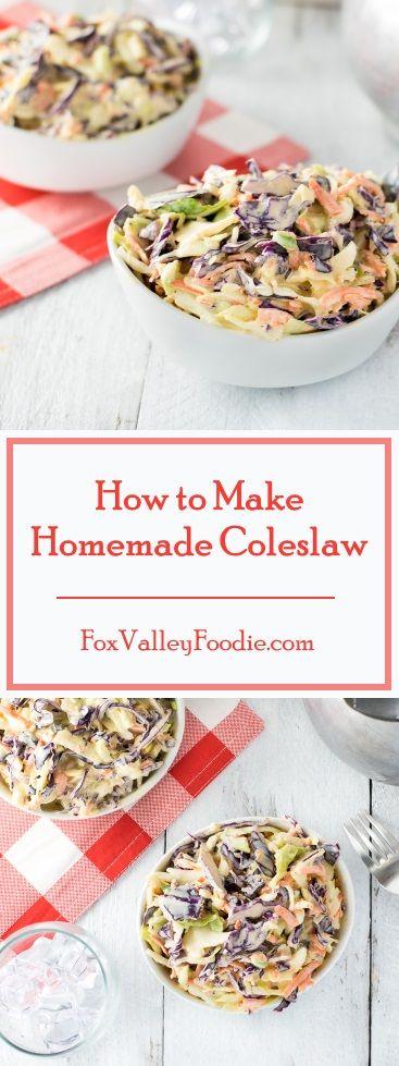 How to Make Homemade Coleslaw recipe