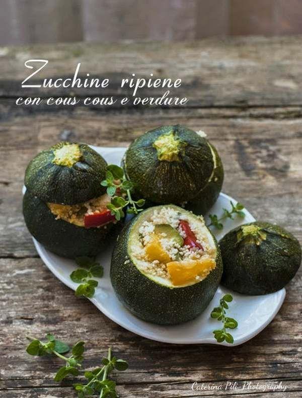 zucchine ripiene di cous cosu e verdure