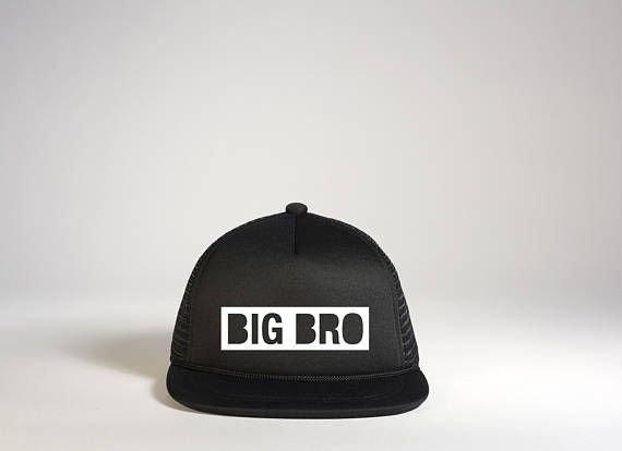 BIG BRO Snapback Hat Toddler Trucker Hat Big Brother Hat