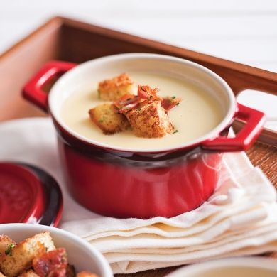 Velouté de chou-fleur aux trois fromages - Recettes - Cuisine et nutrition - Pratico Pratique