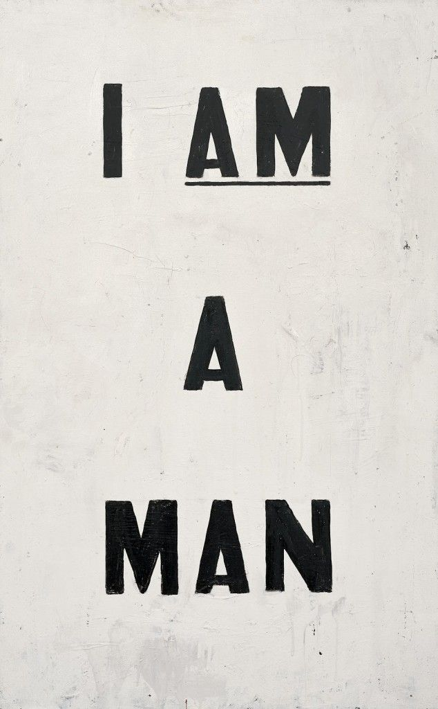 Ain't I a Man? I Mean, I AM a Man. Toi's Take On Glenn Ligon: America - Wild Gender