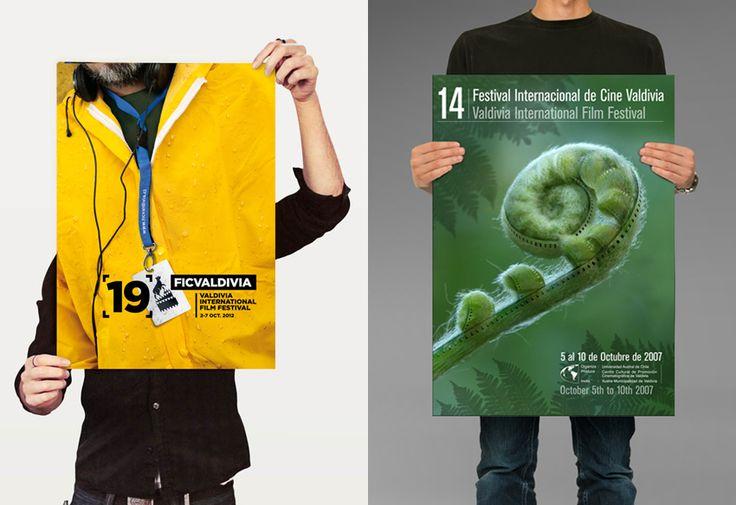 Afiches 14º y 19º Festival Internacional de Cine de Valdivia.