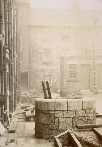 St. Mungo's Holy Well was located in the courtyard of the Saracen's Head Inn on the Gallowgate. It was also known as Little St. Mungo's Well, named after. Glasgow's patron saint. The well has not survived redevelopment of the area.