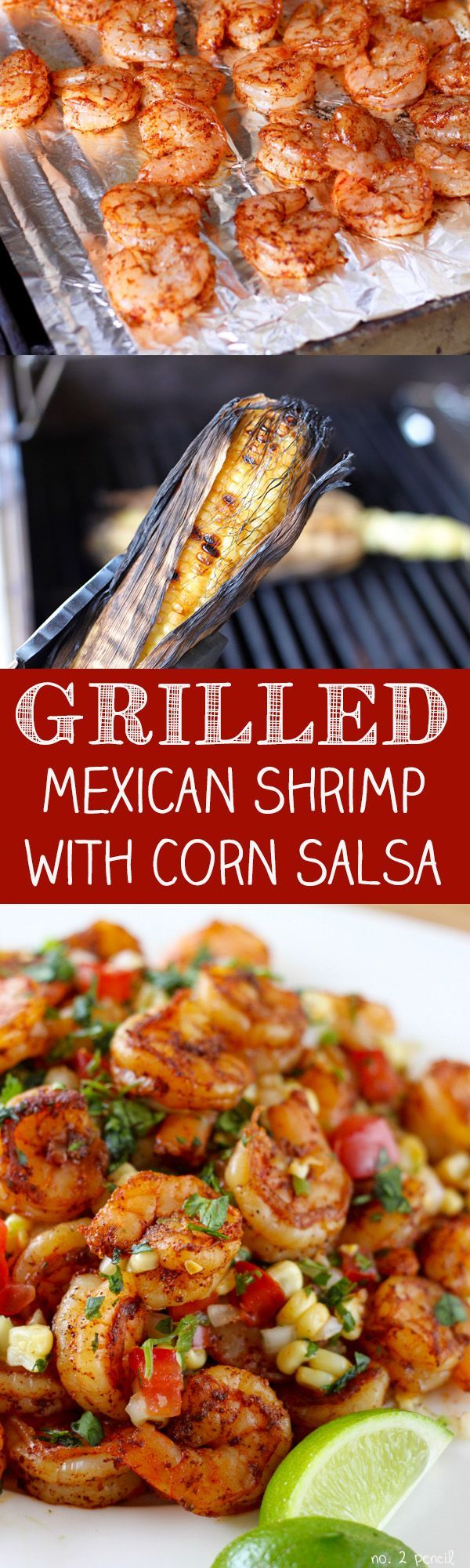 Mexican Grilled Shrimp with Fresh Corn Salsa- easy and delicious recipe perfect for dinner! You can use the leftovers to make a delicious seafood omelette for breakfast! More easy and homemade food recipes @ #no2pencil #food #recipeoftheday #drooling