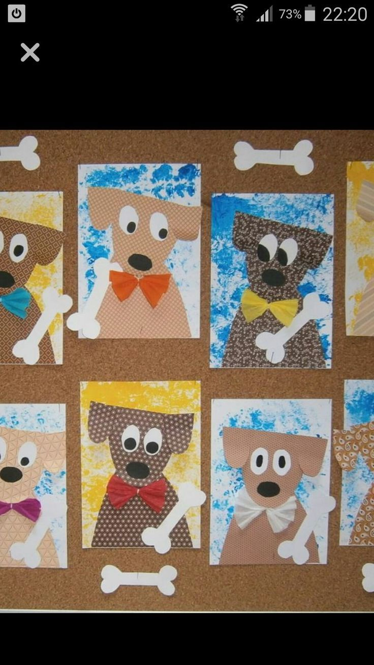Dog Art – could make into a Christmas project by …