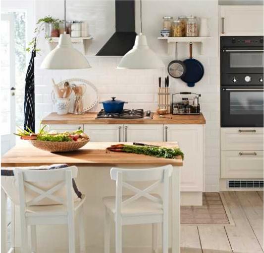 Chambre Couleur Bois Et Blanc :  cuisine à composer on Pinterest  Islands, Cuisine and Small kitchens