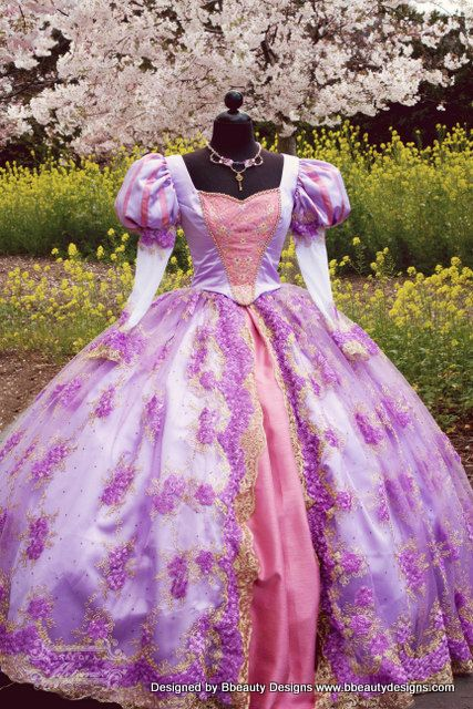 Fantasy Rapunzel Tangled Masquerade or Adult Custom by Bbeauty79, $1999.95 #Rapunzel #Tangled #DisneyPrincess #Disney #Cosplay