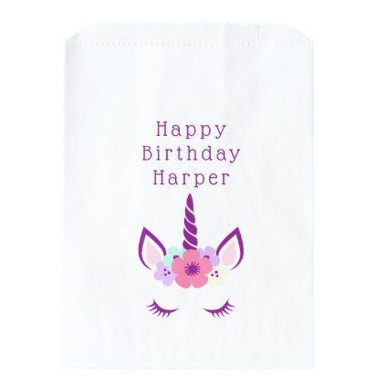 Happy Birthday | Magical Unicorn Favor Bag - birthday gifts party celebration custom gift ideas diy