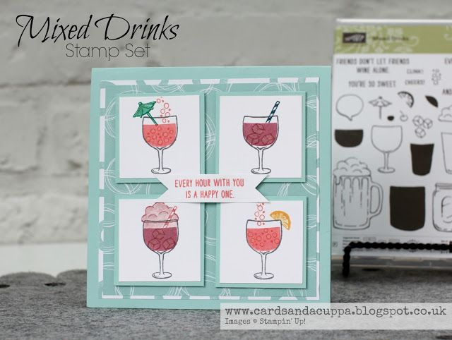 Sarah-Jane Rae cardsandacuppa: Stampin' Up! UK Order Online 24/7: Day Three Of Four Days using Mixed Drinks by Stampin' Up! - Cocktails Anyone?