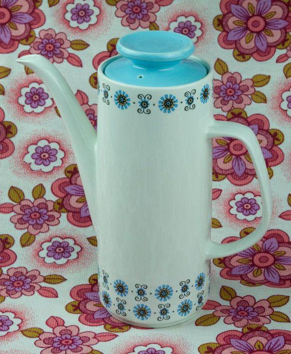 Retro coffee pot. J & G Meakin 1960s1970s Mid by ElsieandMartha, £15.00