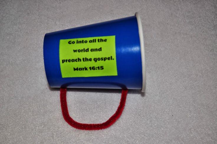 Gospel megaphone craft for preschoolers.
