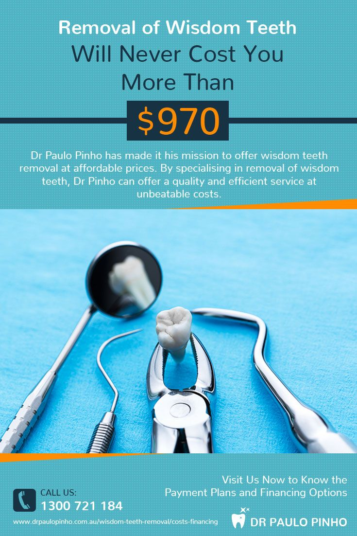 Dr Paulo Pinho has made it his mission to offer #wisdom_teeth removal at affordable prices. By specialising in removal of wisdom teeth, Dr Pinho can offer a quality and efficient service at unbeatable costs.