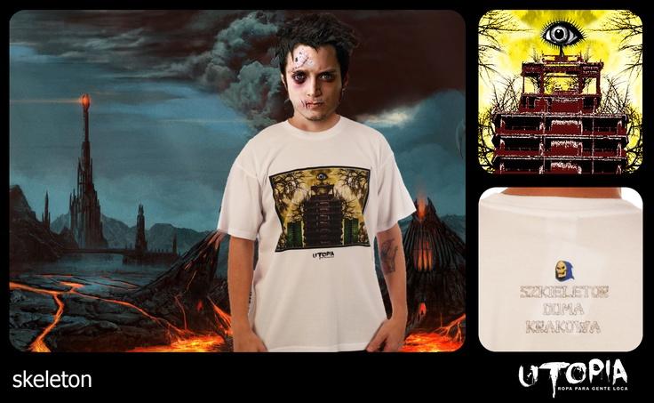 http://www.facebook.com/UtopiaLux Unusual tshirt design. #frodo #tshirt #baggins #sauron #blow #design #lookbook #sick #funny #utopia #marihuana #joint #eye #cracow #skeleton #himan #lord