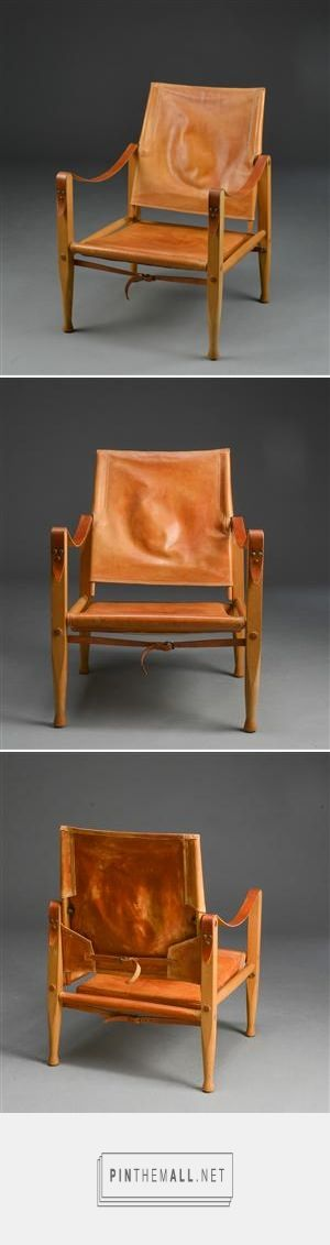 Kaare Klint. Safari chair. Ash and leather. - created via http://pinthemall.net