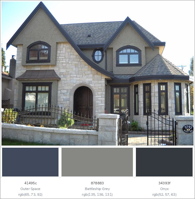 25+ Great Ideas About Exterior Color Combinations On