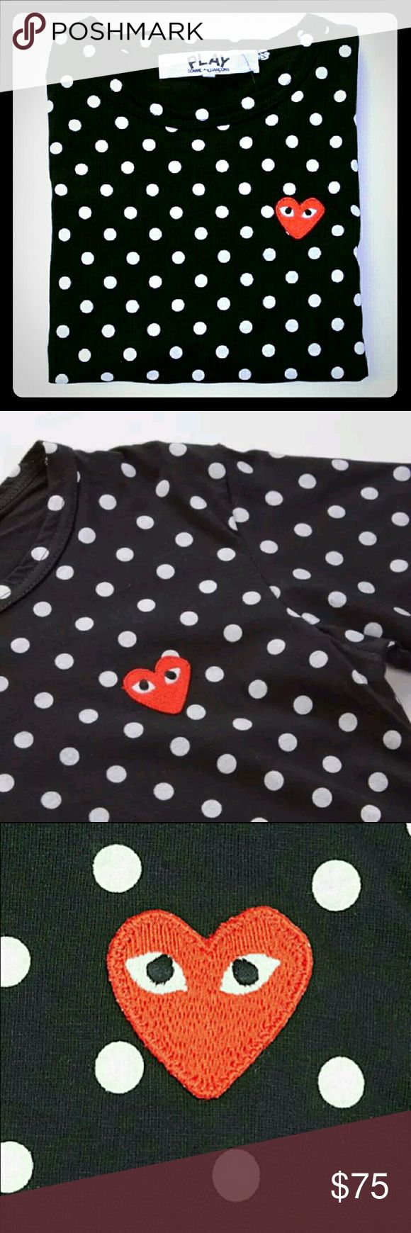 Women's Comme des Garcons CDG Polka Dot shirt I am selling a Women's Comme Des Garcons Polka Dot shirt. It is in fantastic condition. Only worn once. In a size XL. Please serious inquiries only. Comme des Garcons Tops Tees - Short Sleeve