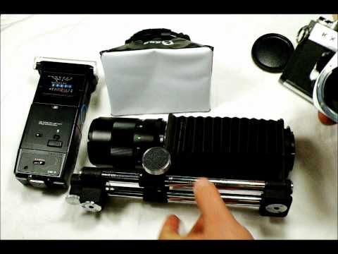 ▶ Basic Macro Bellows Photography Rig Set Up -