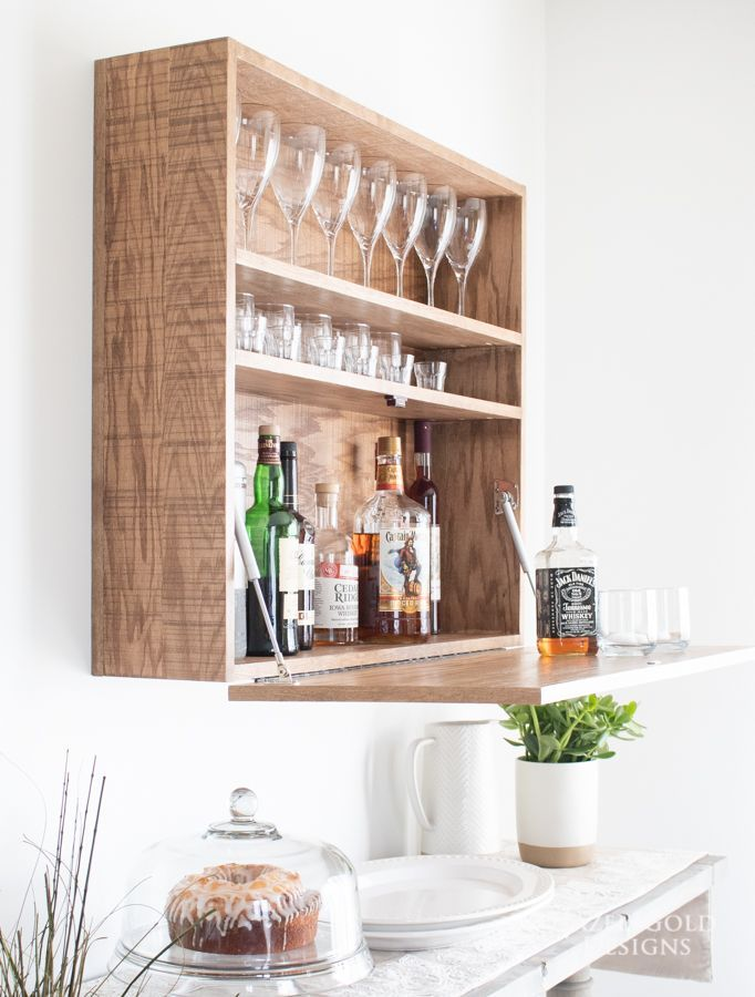 How To Build A Diy Wall Mounted Bar Cabinet In 2020 Home Bar Cabinet Wall Mounted Bar Diy Home Bar