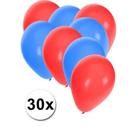 Noorse ballonnen pakket 30x  30x ballonnen in de kleuren van Noorwegen: blauw en rood. Van elke kleur 15 ballonnen leuk voor Noorse thema feesten.  Dit artikel bestaat uit: 1x Rode ballonnen 15 stuks 1x Blauwe ballonnen 15 stuks  EUR 2.99  Meer informatie
