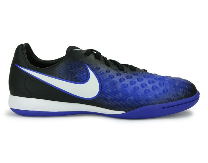 Nike Kids MagistaX Opus Indoor Soccer Shoes Black/White/Paramount Blue