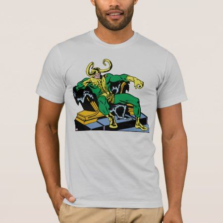 Loki Sitting On Throne T-Shirt - tap, personalize, buy right now!