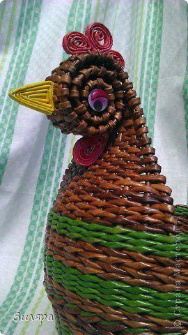 Поделка изделие Плетение Июль-август  Трубочки бумажные фото 20