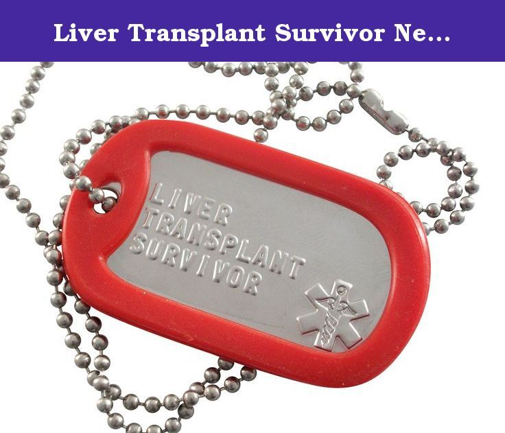 Liver Transplant Survivor Necklace with Medical Star and Red Silencer. You can snip the chain to make it shorter or contact me with a smaller size and we will cut it for you. The Military Tag measures 2 inches by 1 1/8 inches. Embossed is a raised text which can be easily read.