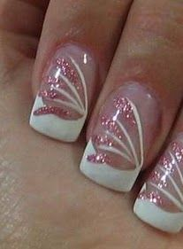 wedding nails design - bridal nails designs - wedding nails decoration - nails designs for weddings, graduation First Communion a Party - Pretty Glitter nail designs, nail designs cute and nice formal party decoration