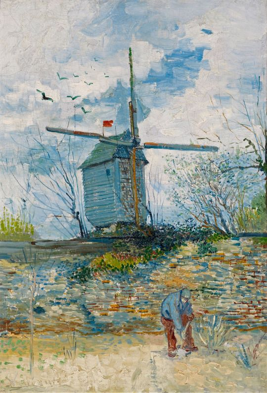 Vincent van Gogh (1853-1890), Le Moulin de la Galette, 1886. oil on canvas, 55 x 38,5 cm