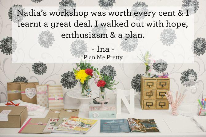 Nadia van der Mescht - testimonial #creative #business #workshop #testimonial