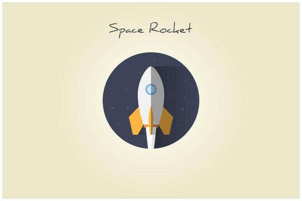 137 Space Rocket (freebie by pixelcave)