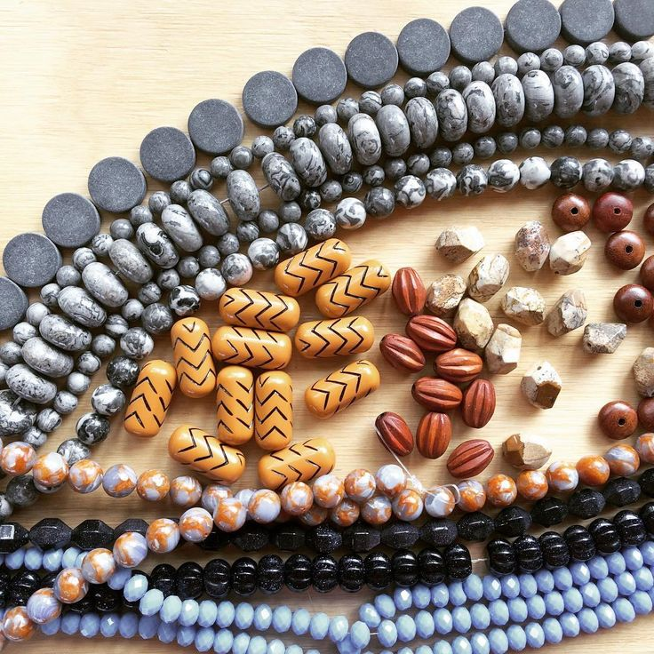 This delicious medley of beads has now been crafted into a brand new #spice necklace aptly named Quarry. #newdesign #necklace #onthedesk #fridaymakin #oktoberdee #jewelry #jewellery #melbournecraft #melbournedesign #australiandesign #madebyhand #sydneyfinderskeepers #linkinprofile