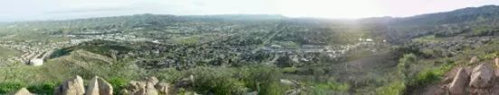 Looking  east into Simi Valley from Mt McCoy