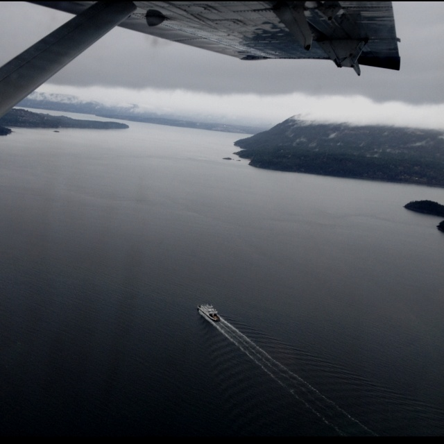 View from the sea plane during my short flight to Victoria BC from Richmond