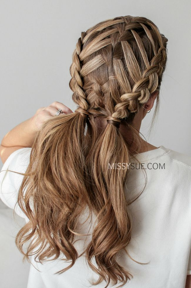Waterfall Braid Double Dutch Braids With Images Big Box