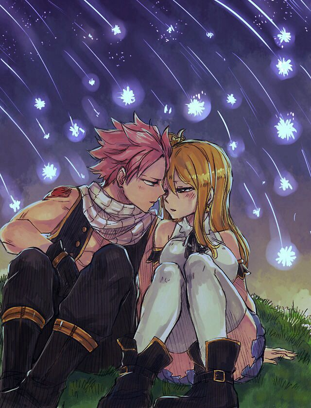 Nastu and lucy fairy tail natsu x lucy pinterest the sky chang 39 e 3 and under the stars - Fairy tail lucy et natsu ...