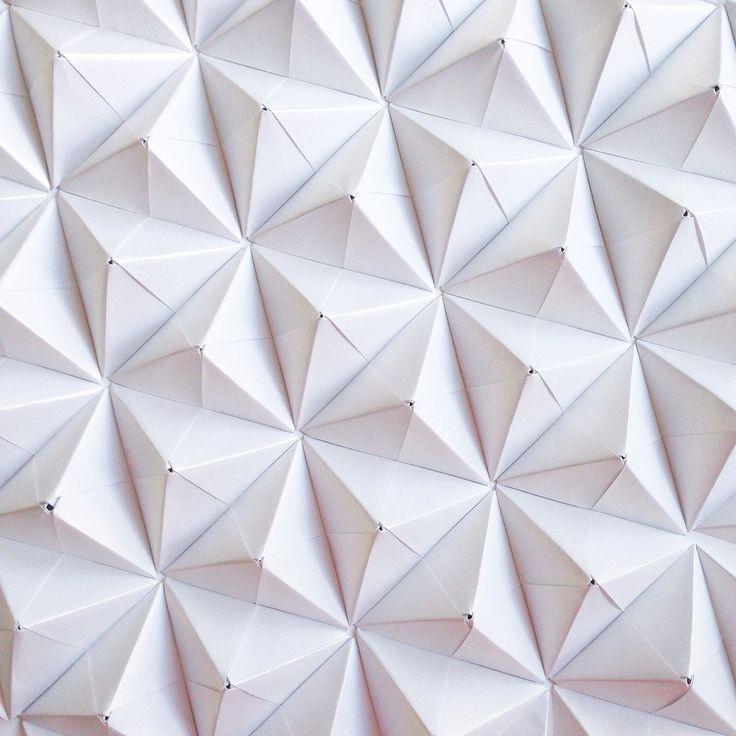 Sonobe unit origami improvisation by Coco Sato | Patterned ...