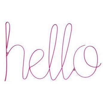 Big Hello Sign (magenta)