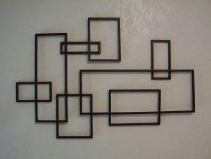 mid century modern de stijl style geometric metal wall sculpture modern metal wall artabstract