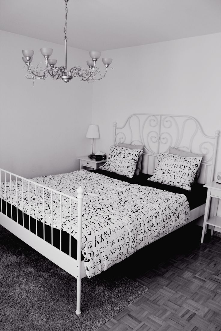 the bed and the side tables are from ikea - Leirvik Bed Frame