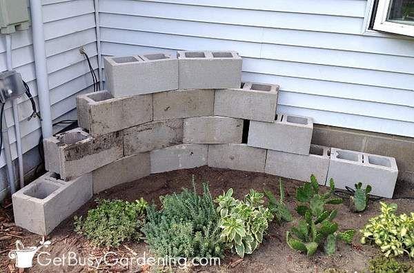 How To Make A Concrete Block Planter Cinder Block Garden Garden Design Cinder Block