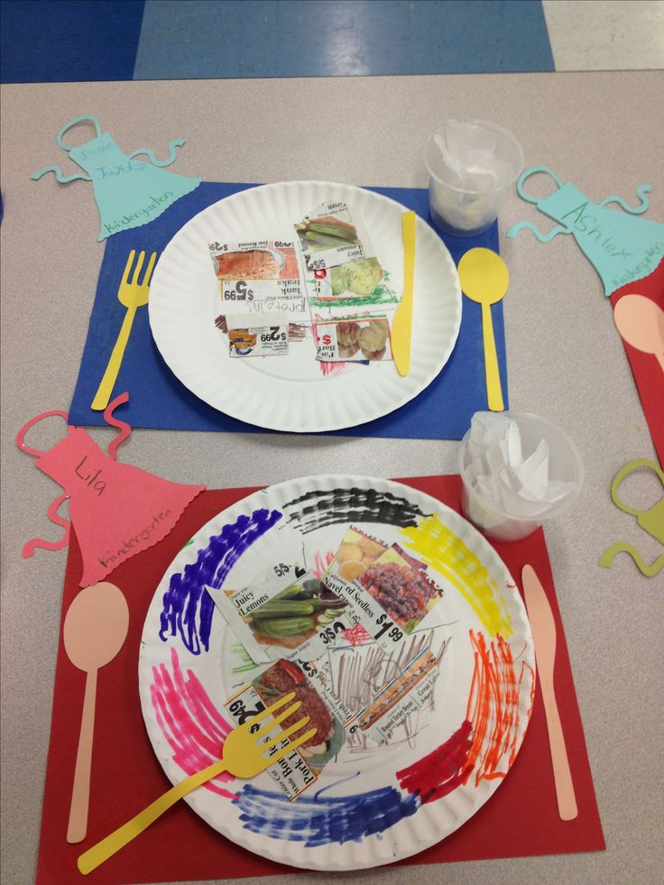 The Pre-K students learned about the five components in nutrition. The children recreated the Nutrition Plate Chart ripping pictures from the supermarket flyers. Also, the students were given a paper plate, glue, spoons, folks and knives cut outs for them to decorate as they wish. The paper plates are resting on a large construction paper to simulate a nice tray.