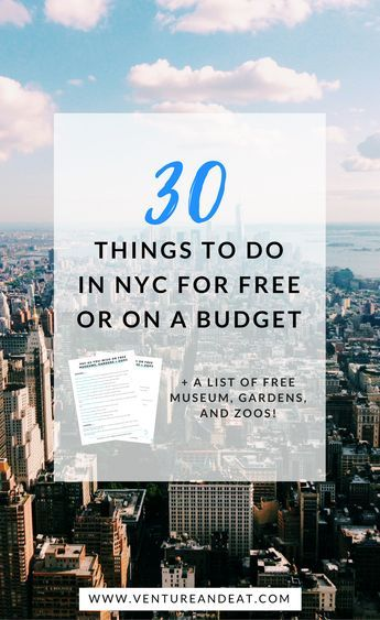 30 Things to Do in NYC for Free or On a Budget | NYC