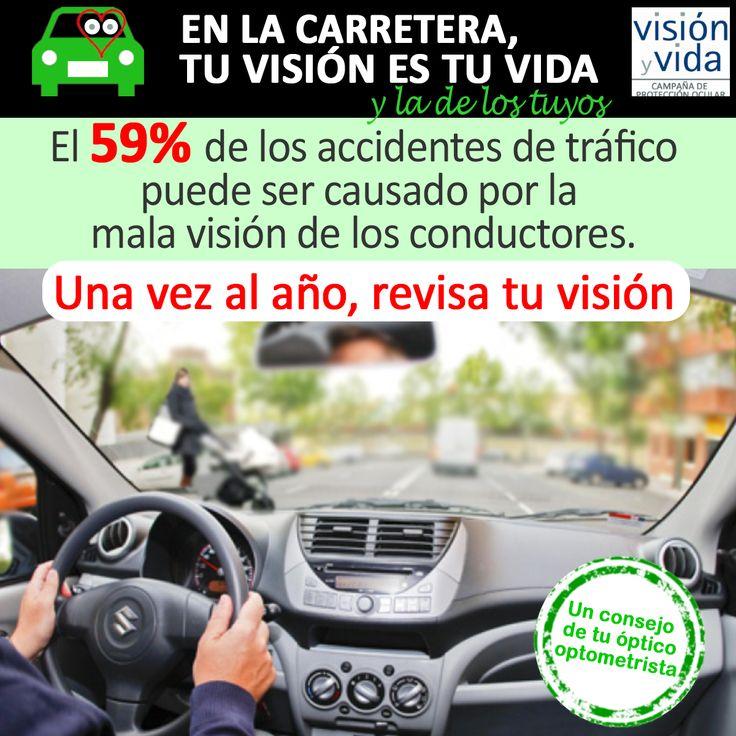 El 59% de los accidentes de tráficos pueden estar relacionados con la visión.